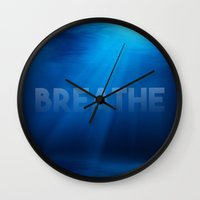 breathe Wall Clocks featuring Breathe by eARTh