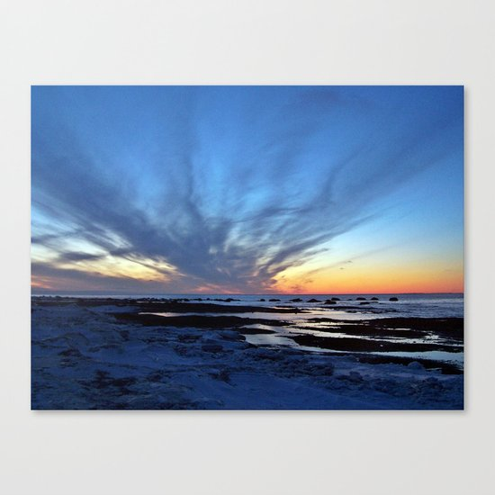 Cloud Streaks at Sunset Canvas Print