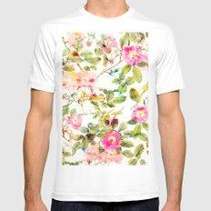 soft pink rosebush MEDIUM White Mens Fitted Tee