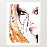 snsd Art Prints featuring SNSD - Jessica  by Noir0083