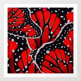 red monarch Art Print