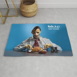 Zombie Etiquette : Table Manners Rug