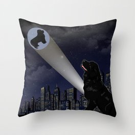 Newfie Dreams Throw Pillow