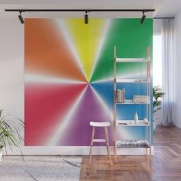Rainbow Gradient Wheel Wall Mural