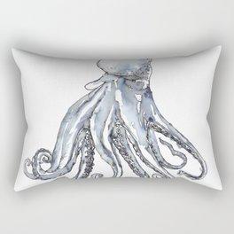 Octopus Watercolor Sketch Rectangular Pillow