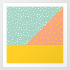 80's Abstract 1 Art Print