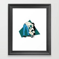 King Of Jeans Framed Art Print