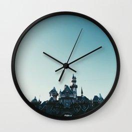 Disneyland at Dusk Wall Clock