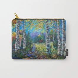 Nocturne Blue - Palette Knife by OLena Art  Carry-All Pouch