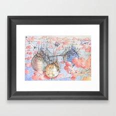 Le Tre Mongolfiere Framed Art Print