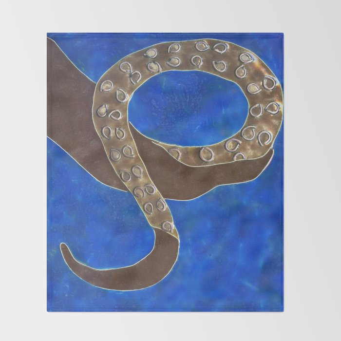 Creature of Water (the tentacle) Throw Blanket