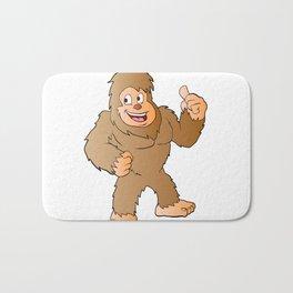 Bigfoot cartoon Bath Mat