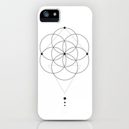 Seed Of Life Geometry White iPhone Case