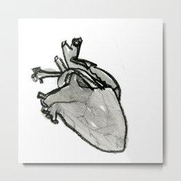 Lark Heart: black Metal Print