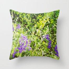 Wild Delphinium Bliss Throw Pillow