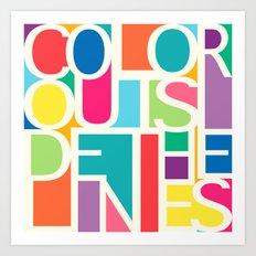 Outside The Lines Art Print