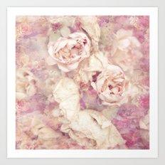 FADED ROSES Art Print