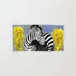 ZEBRA YELLOW ORCHIDS TROPICAL BLOOM Hand & Bath Towel