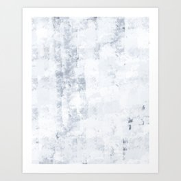 Frozen, White Winter Is Here, Hand-painted Modern Minimalist Abstract Acrylic Painting Art Print