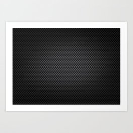Carbon Fiber Background Art Print