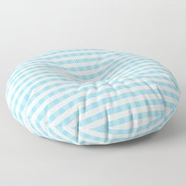 Blue and white plaids Floor Pillow