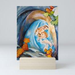 Un bébé avec sa mère... Mini Art Print
