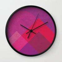 moonrise Wall Clocks featuring Moonrise by Kassy Davis