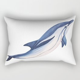 Striped baby dolphin Rectangular Pillow