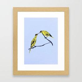 Commitment | line illustration of birds Framed Art Print