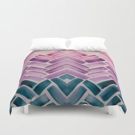 Decor Colorful Watercolor Abstract Pattern Duvet Cover