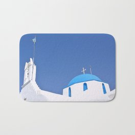 Paros Island Church, Greece Bath Mat