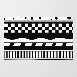 Abstract Zentangle Design Rug