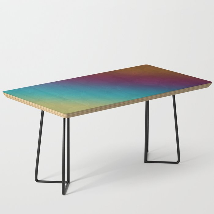 Bohek Bubbles on Rainbow of Color - Ombre multi Colored Spheres Coffee Table