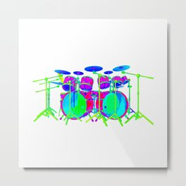 Colorful Drum Kit Metal Print