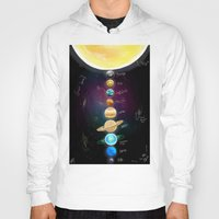 milky way Hoodies featuring Milky Way All the way by Eric Holopainen