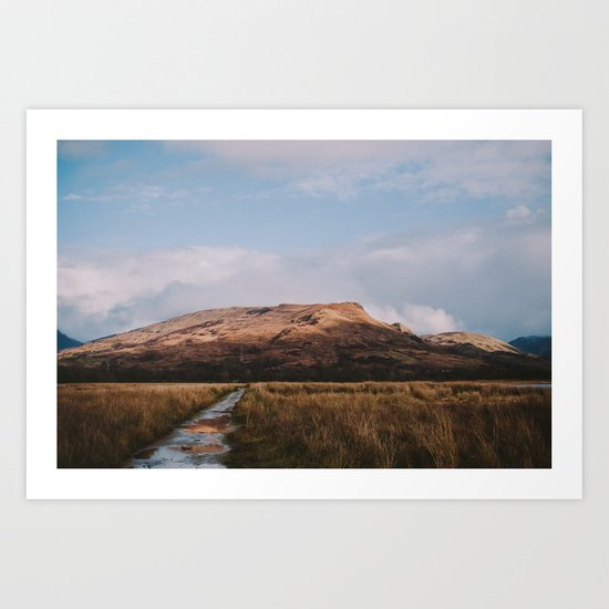 Trail through the Scottish Highlands Art Print