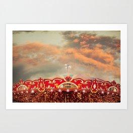 Wonderful Whirled Carousel Art Print