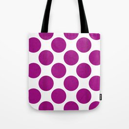 Fuchsia Polka Dot Tote Bag