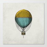 hot air balloon Canvas Prints featuring Vintage Hot Air Balloon by Juste Pixx Designs