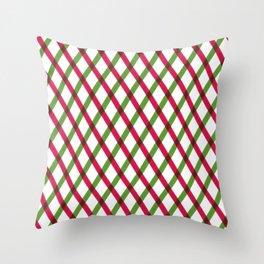 Holiday Ribbon Pattern Throw Pillow