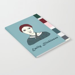 Emily Dickinson, hand-drawn portrait Notebook