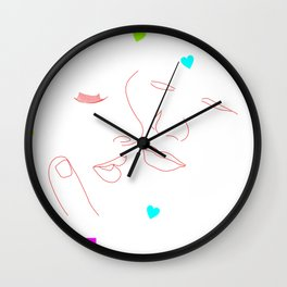 First Kiss of Love Wall Clock