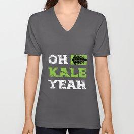 Kale Yeah Kale Art for Vegans Vegetarians on Diet Dark Unisex V-Neck