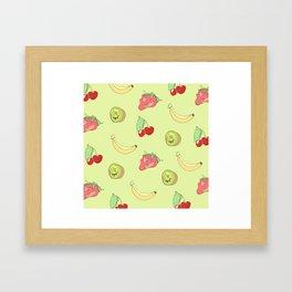 Fruit Pattern Framed Art Print
