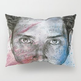 Pretty Noose: Red & Blue: Tribute to Chris Cornell Pillow Sham