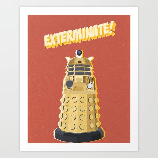 Dalek Doctor Who Art Print
