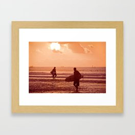 Sunset at Balangan Framed Art Print
