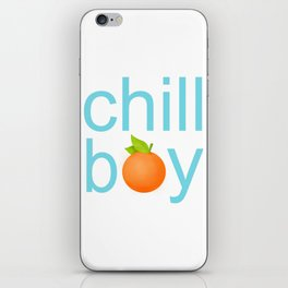chill boy iPhone Skin