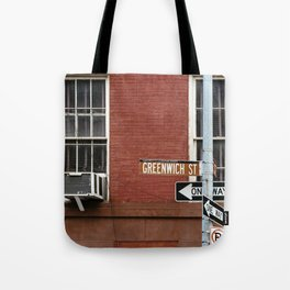 Greenwich Street in New York Tote Bag