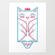 Hoo! Art Print